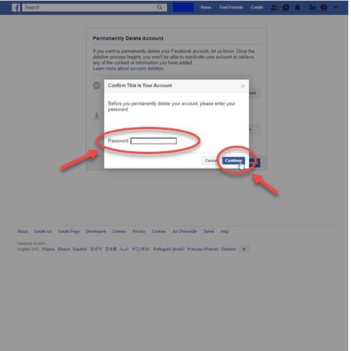 Onaylamak için Facebook Şifresini Girin