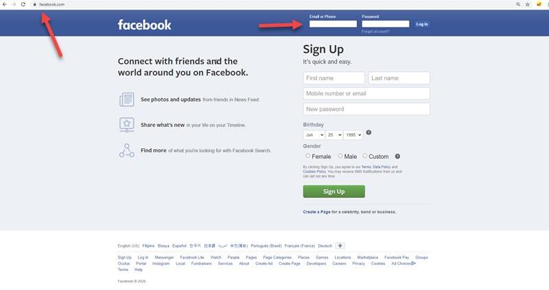 Giriş Facebook Hesabı