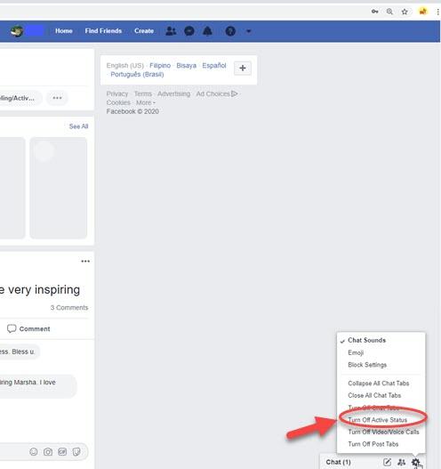 Facebook Sohbette Çevrimdışı Görün