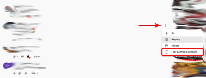 Kullanıcıları YouTube kanalımdan gizleme