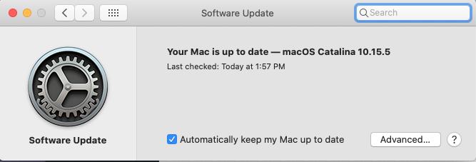 macOS Yazılım Güncellemesi