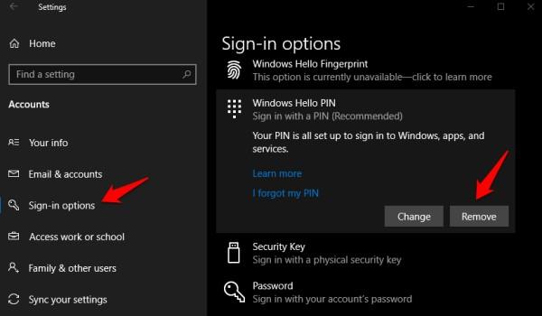 windows merhaba giriş seçenekleri