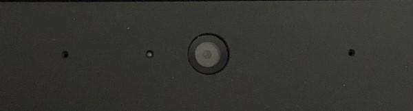 Dizüstü bilgisayarda yerleşik web kamerası - küçük karanlık daire