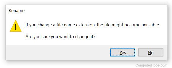 Dosya uzantısı silindikten sonra kullanılamaz dosya.