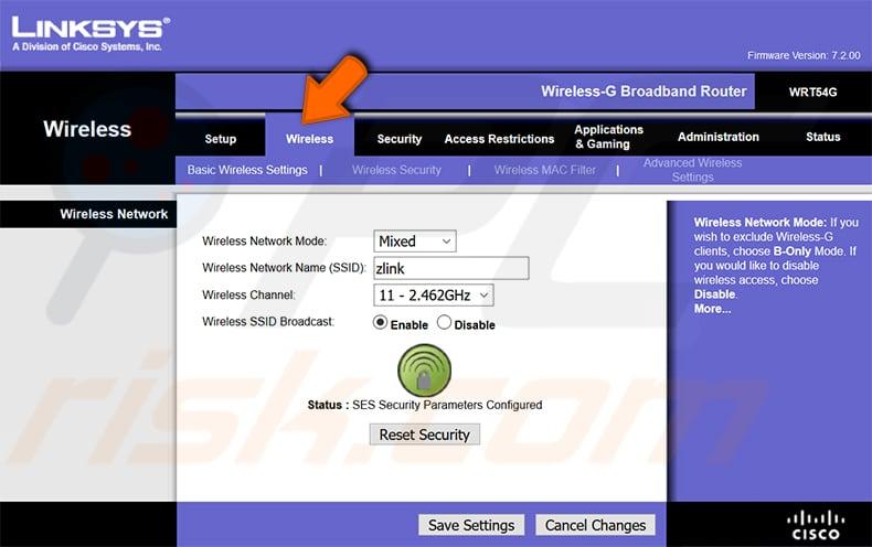 wi-fi şifrenizi bulun linksys wrt54g router 1. adım