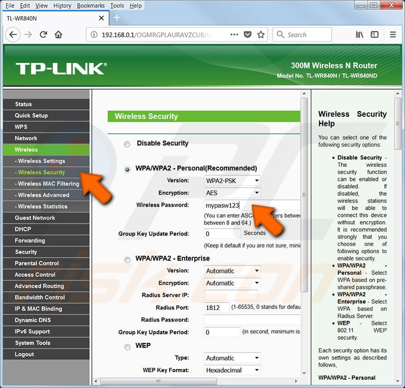 wi-fi şifrenizi bulun tp link tl-wr540n router 2. adım