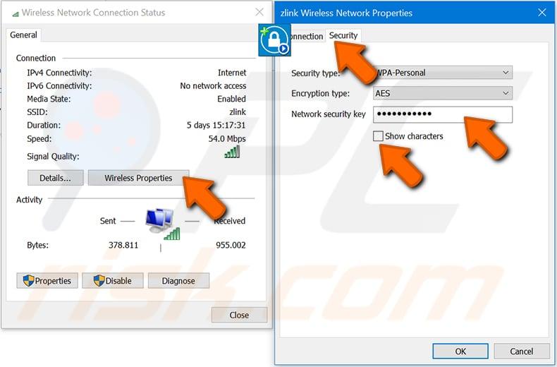 Windows 10 adım 4'te bir Windows bilgisayarda wi-fi şifrenizi bulun