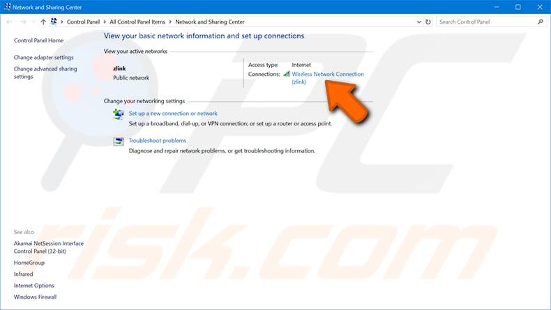 Windows 10 adım 3'te bir Windows bilgisayarda wi-fi şifrenizi bulun