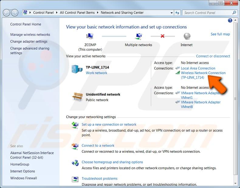 Windows 7 adım 2'de bir Windows bilgisayarda wi-fi şifrenizi bulun